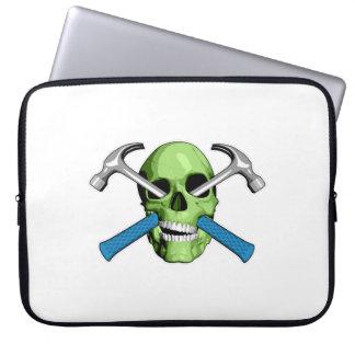 Zombie Carpenter Skull Computer Sleeves