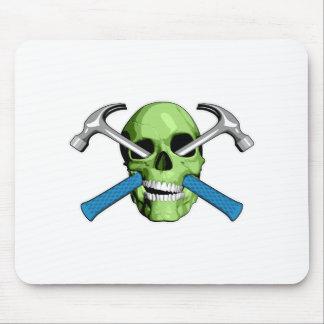 Zombie Carpenter Skull Mouse Pad