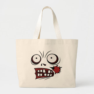 zombie cartoon face zombie tote bag