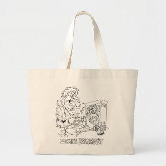 Zombie Cartoon Tote Bag
