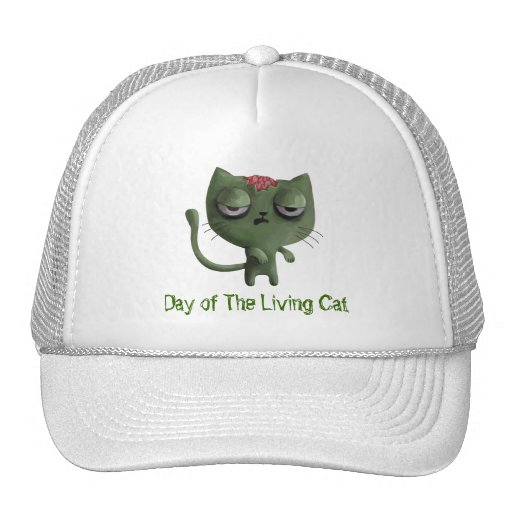 Zombie Cat Trucker Hat