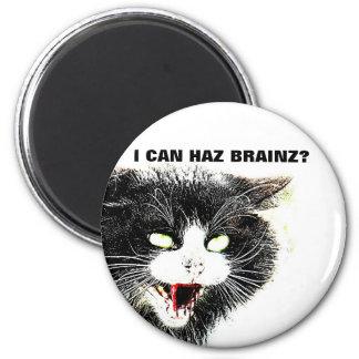 Zombie Cat I Can Haz Brainz Magnet