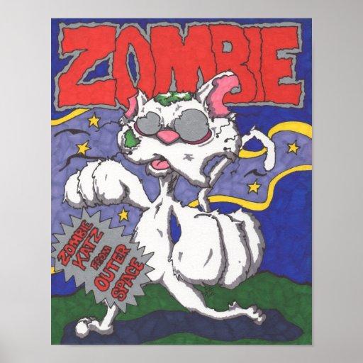 Zombie Cat Mock Movie Poster