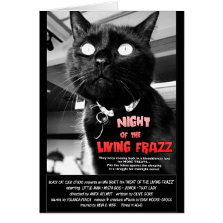 Zombie Cat Movie Poster Note Card