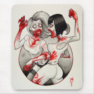 """Zombie Catfight!"" Mouse Pad"