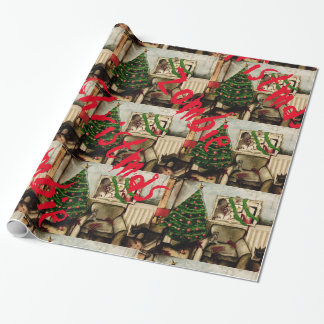 Zombie Christmas colour wrapping paper