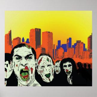 zombie city poster