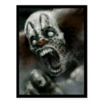 zombie clown post card