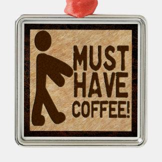 Zombie Coffee Metal Ornament