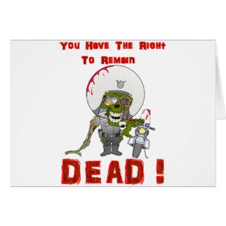 Zombie Cop Card