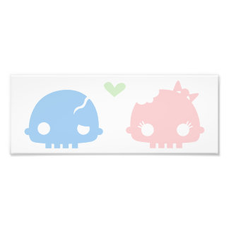 Zombie Couple Prints