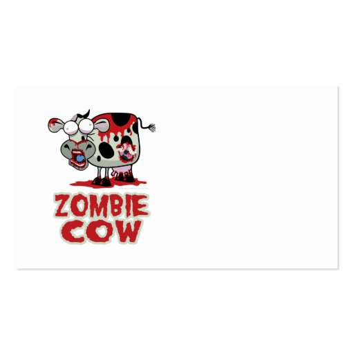 Zombie Cow Pack Of Standard Business Cards
