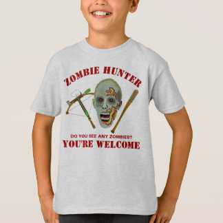 Zombie Crossbow Bat | Funny Hunter Youre Welcome T-Shirt