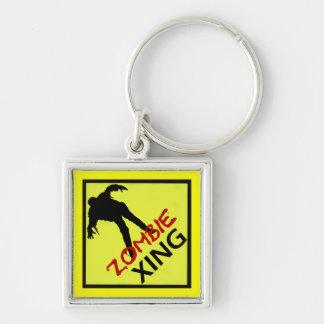 Zombie Crossing Keychain