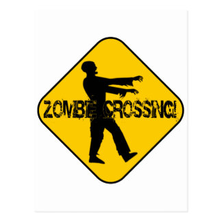 Zombie Crossing Postcard
