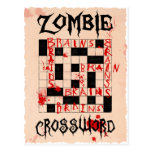Zombie crossword postcard
