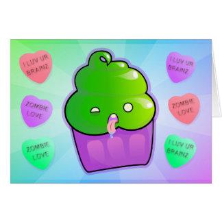 Zombie Cupcake Greeting Card