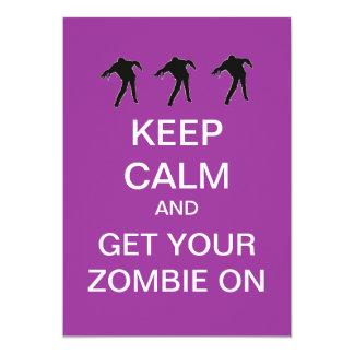 Zombie Custom Halloween Party Invitations