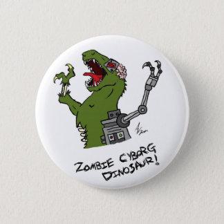 Zombie Cyborg Dinosaur Button