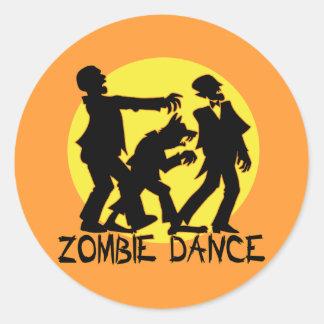 Zombie Dance Stickers/Envelope Seals Round Sticker