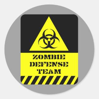Zombie Defense Team Classic Round Sticker