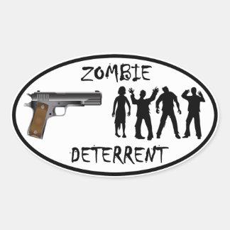 Zombie Deterrent Oval Sticker