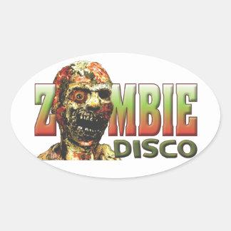 Zombie Disco Oval Stickers