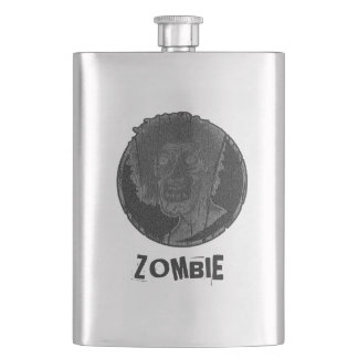 Zombie Distressed Looking Graphic 2 Hip Flask