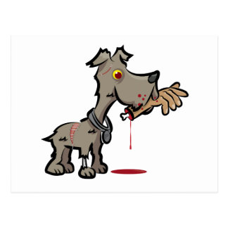 Zombie Dog Illustration by Daily Undead Postcard