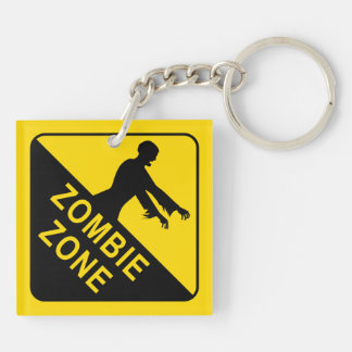 Zombie Double-Sided Square Acrylic Key Ring