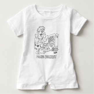 Zombie Eats Raisin Brain Cereal For Breakfast Baby Bodysuit