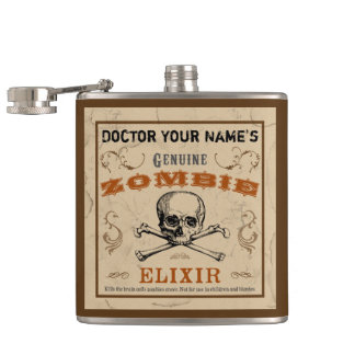 Zombie Elixir Customizable Flask