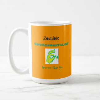 Zombie Environmentalist, greener than you, mug