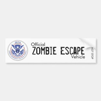 Zombie Escape Vehicle Bumper Sticker