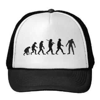 Zombie Evolution T-shirt Design Mesh Hats
