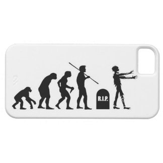 Zombie Evolutionary evolution chart funny science iPhone 5 Case