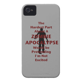 Zombie Excited iPhone 4 Cover