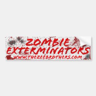 Zombie Exterminators White Blood & Bullets Sticker