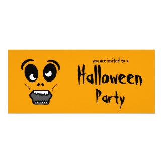 "Zombie Face Halloween Party Invitation 4"" X 9.25"" Invitation Card"