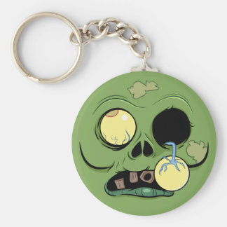 Zombie Face with Eye Popping Out Key Chain