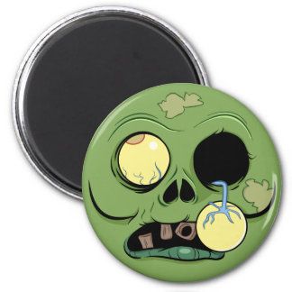 Zombie Face with Eye Popping Out Magnet