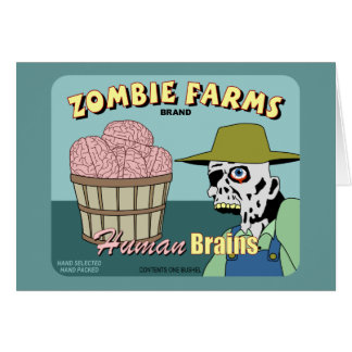 Zombie Farms Fruit Crate Label Greeting Card