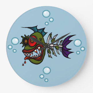 Zombie Fish Skeleton Wall Clock  Ver. 2