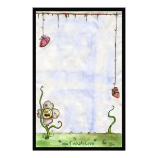 Zombie Flower Stationary Personalised Stationery
