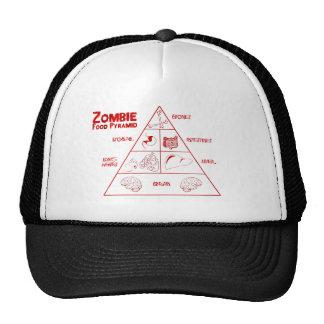 Zombie food pyramid hats