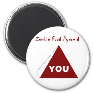 Zombie Food Pyramid Z 6 Cm Round Magnet