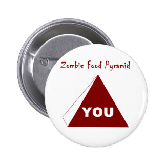 Zombie Food Pyramid Z Pinback Buttons