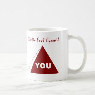 Zombie Food Pyramid Z Basic White Mug