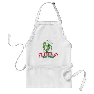 Zombie food truck adult apron