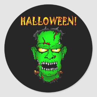 Zombie Frankenstein Round Sticker